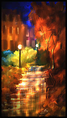 City Nights Art Print by Steven Lebron Langston