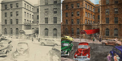 Ritter Park Photograph - City - Ny - Leo Ritter School Of Nursing 1947 - Side By Side by Mike Savad