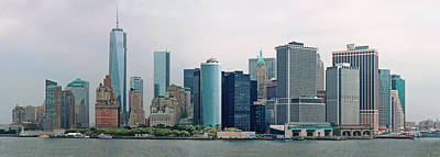 City - Ny - The Financial District Art Print by Mike Savad