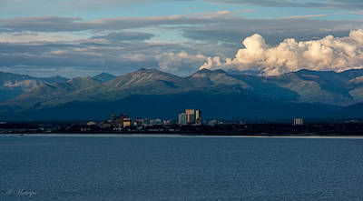 City Of Anchorage  Art Print