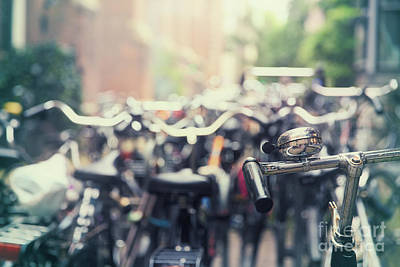 Handlebar Photograph - City Of Bikes by Jane Rix