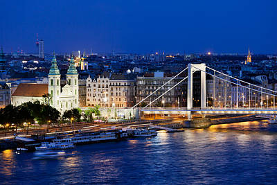 Budapest Sights Photograph - City Of Budapest At Night by Artur Bogacki
