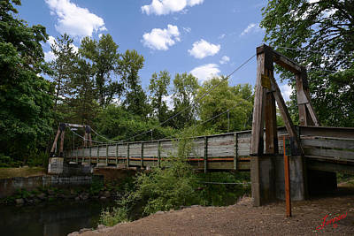 Rickreall Creek Photograph - City Of Dallas Park Bridge by Charles Fennen
