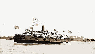 Steamboat Drawing - City Of Erie Steamer, City Of Erie Steamboat by Litz Collection