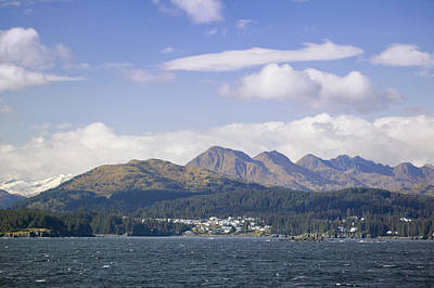 City Of Kodiak On Monashka Bay Kodiak Art Print