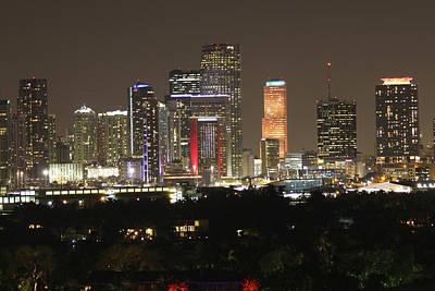 Miami Skyline Digital Art - City Of Light by S C