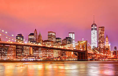 Dumbo Photograph - City Of Lights by Midori Chan