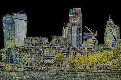 Tower Of London Digital Art - City Of London Art by David Pyatt