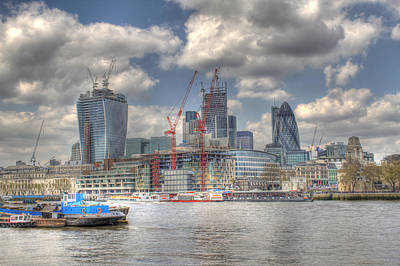 City Of London As Viewed From City Hall Print by Ash Sharesomephotos