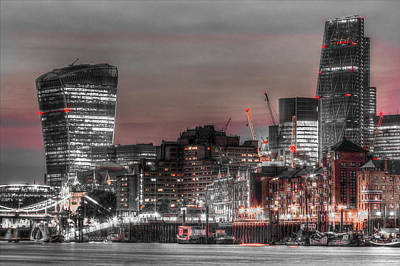 Photograph - City Of London At Night by David Pyatt