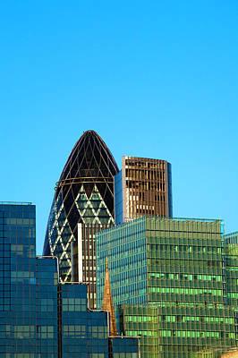 Financial District Photograph - City Of London Financial Buildings by Scott E Barbour
