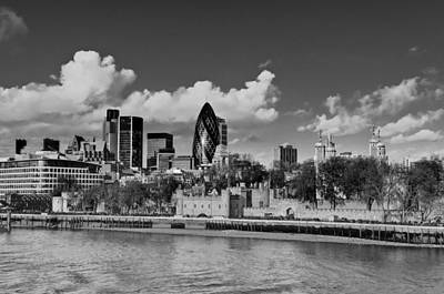 London Skyline Photograph - City Of London From Tower Bridge by Gary Eason