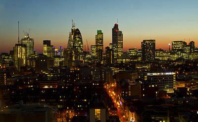 London Skyline Royalty-Free and Rights-Managed Images - City of London Skyline by David French