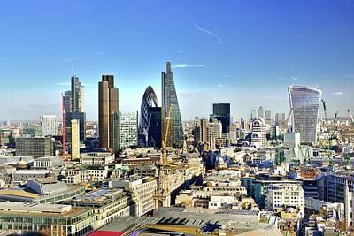 City Of London Skyline Art Print by Vladimir Zakharov