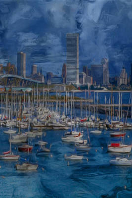 Impressionist Photograph - City Of Milwaukee Along Lake Michigan by Jack Zulli