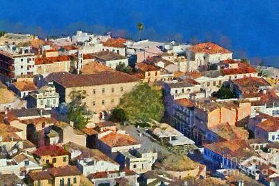 Painting - City Of Nafplio by George Atsametakis