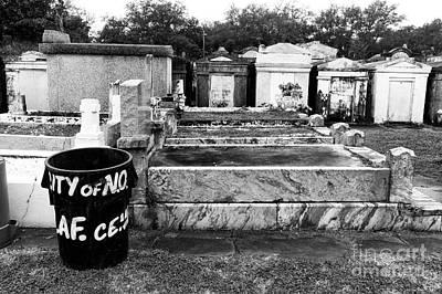 Photograph - City Of No Lafayette Cemetery Mono by John Rizzuto