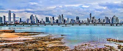 Photograph - City Of Panama Panoramic From El Casco Viejo By Diana Sainz by Diana Raquel Sainz