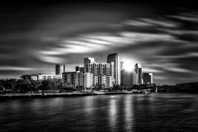 Photograph - City Of Reflection In Monochrome Hdr by Michael White