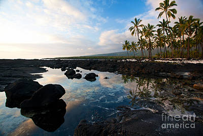 Kona Photograph - City Of Refuge Beach by Mike Reid