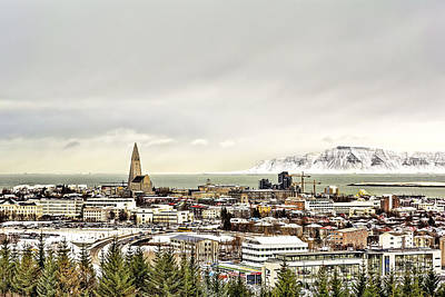 Photograph - City Of Reykjavik  by Maria Coulson
