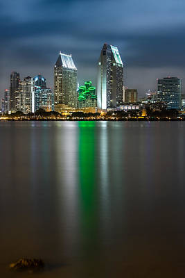 San Diego Bay Photograph - City Of San Diego Skyline 3 by Larry Marshall
