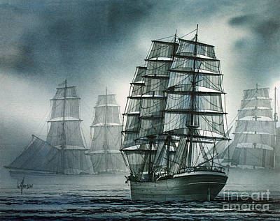 City Of Ships Art Print by James Williamson