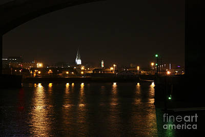 Photograph - City Of Southampton At Night by Terri Waters