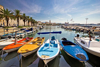 Photograph - City Of Split Colorful Harbor View by Brch Photography