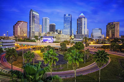 Photograph - City Of Tampa At Dawn In Hdr by Michael White