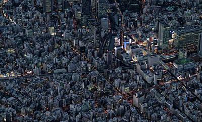 City Of The Beautiful Night View Art Print by Kokouu