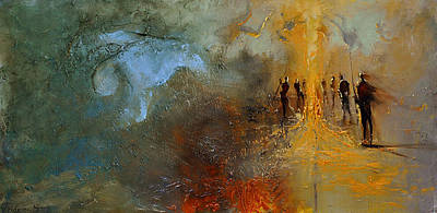 Painting - City Of Unwanted by David Figielek