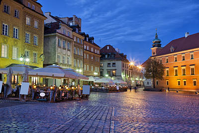 City Of Warsaw In The Evening Art Print by Artur Bogacki
