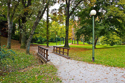 Photograph - City Of Zagreb Autumn Park by Brch Photography