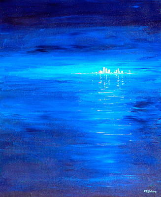 Painting - City On The Sea by Vic Delnore