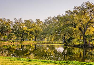 La Photograph - City Park Lagoon 4 by Steve Harrington