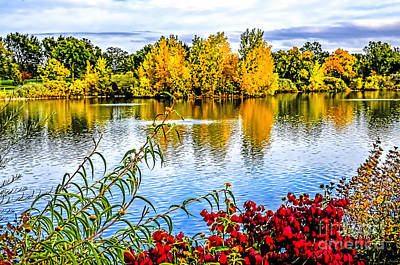 Fort Collins Photograph - City Park Lake by Keith Ducker