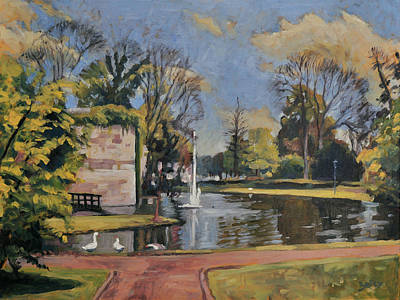 Maastricht Painting - City Park Maastricht by Nop Briex