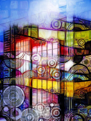 Abstract Digital Digital Art - City Patterns 1 by Lutz Baar