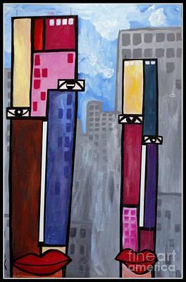 City People Art Print by Kip Krause