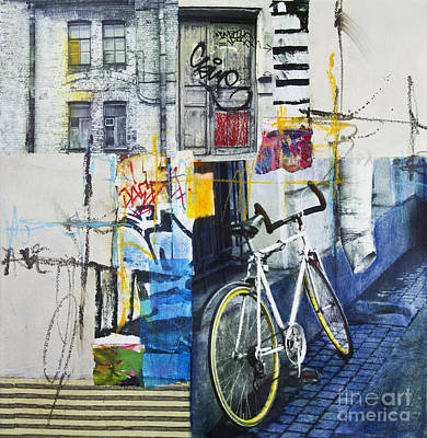 Assemblage Mixed Media - City Poetry by Elena Nosyreva