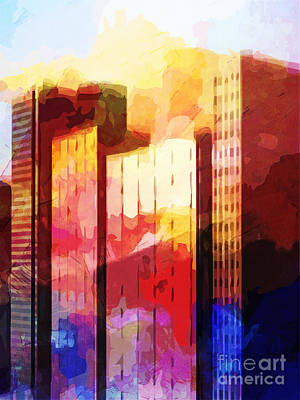 Central Park Mixed Media - City Pop by Lutz Baar