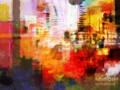 Painting - City Pulse by Lutz Baar