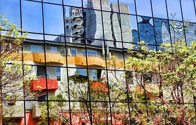 Photograph - City Reflections By Diana Sainz by Diana Raquel Sainz
