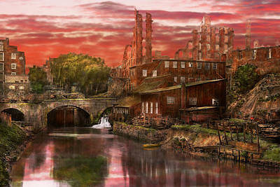 Old Mill Scenes Photograph - City - Richmond Va - After The Fighting Stopped - 1865 by Mike Savad