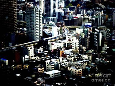 Tokyo Skyline Photograph - City Road by Nelly Bacskay