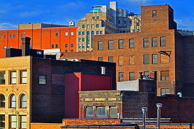 City Roof Tops Art Print by Peter  McIntosh