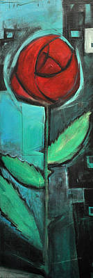Painting - City Rose - Few Noticed by Tim Nyberg