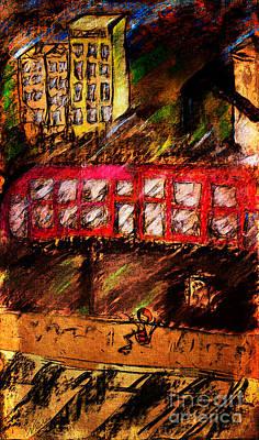 Painting - City Run by Nicole Philippi