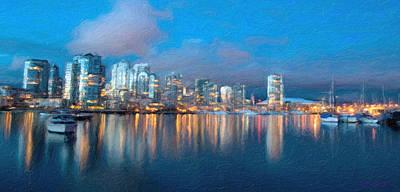 Digital Art - City Scape by Walter Colvin
